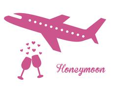 honeymoon design, vector illustration eps10 graphic - stock illustration