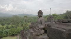Borobudur - Buddha Statue Stock Footage