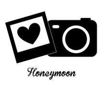 honeymoon design, vector illustration eps10 graphic - stock illustration