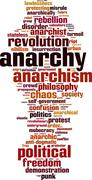 Anarchy word cloud Stock Illustration