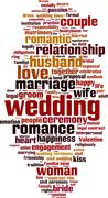 Wedding word cloud - stock illustration
