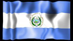Flag of San Salvador Stock Footage