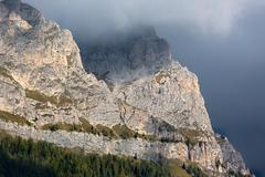 Rock face in Dolomites, Alps, Italy Stock Photos