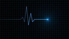 Heart Monitor Animation - stock footage