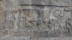 Borobudur - Details Stock Footage
