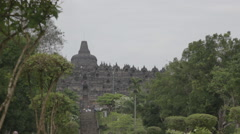 Borobudur Entrance Slider Shot Stock Footage