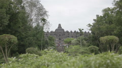 Borobudur Entrance Tracking Shot Stock Footage