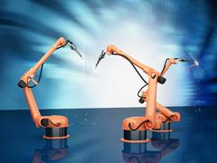 Industrial Robotic Arms - stock photo