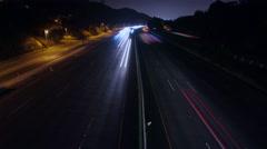 Los Angeles Highway Night Timelapse - stock footage