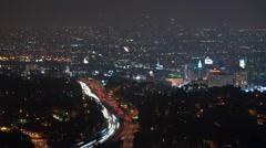 LA Hollywood Overlook Timelapse - stock footage