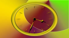 Animated Clock Time Lapse 30 Minute In 9 Seconds Stock Footage