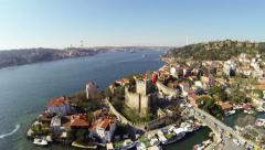 High angle view of Bosphorus, Istanbul Stock Footage