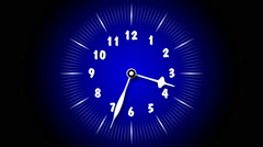 Blue Animated Clock Time Lapse 30 Minute In 9 Seconds Stock Footage