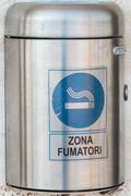 Station ashtray - stock photo