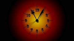 Animated Clock Time Lapse 60 Minute In 12 Seconds Stock Footage