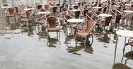 Stock Photo of High water in Saint Mark's square, Venice