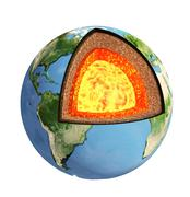 Stock Photo of Structure of the Earth