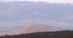 Small Volcano Cone In Volcanic National Park Stock Footage