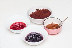 Ingredients  for baking homemade cake pops Stock Photos
