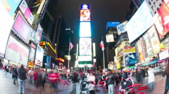 NY Time Square Part 1 Stock Footage