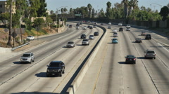Time Lapse  - Traffic on Busy 101 Freeway in Downtown Los Angeles California Stock Footage