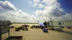 Plane Baggage Loading Area Stock Footage