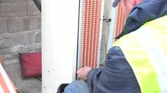 Telephone repair, company man Stock Footage