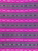 Colorful Thai style handmade fabric pattern Stock Photos