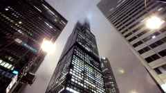 Stock Video Footage of Sears Tower Fog 2