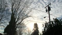 Sunset in Urban Skyline Time Lapse - stock footage