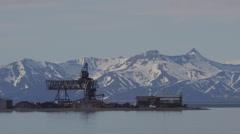 Longyearbyen, Svalbard Port Facility Stock Footage
