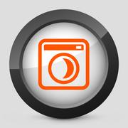Vector orange and gray elegant glossy icon. Stock Illustration