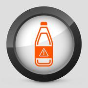 Vector orange and gray elegant glossy icon. - stock illustration