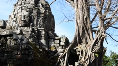 Cambodia 1080p Siem Reap Ta Som Temple Zoom Out Stock Footage