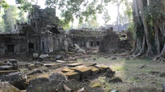 Cambodia 1080p Siem Reap Temple Preah Khan Pan Stock Footage