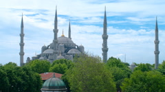 Sultan Ahmed Mosque time-lapse video. Istanbul, Turkey. Zooming in video. Stock Footage