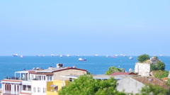 Stock Video Footage of Fishing boats in Marmara sea. Miniature fake using tilt&shift lens.