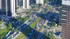 Aerial view to freeway with traffic jam in Istanbul, Turkey. Video with Stock Footage