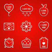 Stock Illustration of Love icons