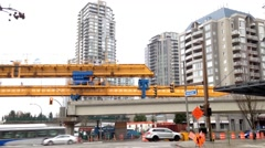 New construction site for new skytrain station Stock Footage