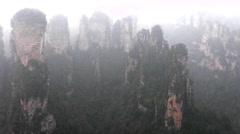 Zhangjiajie National Park, China. Stock Footage