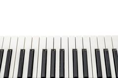 Top view of piano keyboard Stock Photos