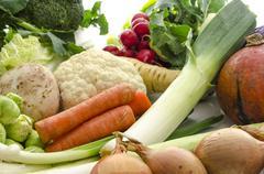 Bio vegetables Stock Photos