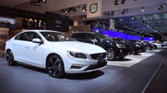 Volvo S60 sedan and XC60 SUV - stock footage
