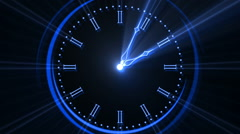 Animated Clock Time Lapse 12 Hours In 12 Seconds Stock Footage