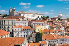 Stock Photo of The old Alfama quarter in Lisbon