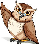 A wise owl Stock Illustration