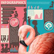 A chart showing humans and animals - stock illustration