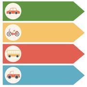 Different transportations - stock illustration