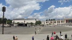 HD: Fatima main square, Portugal - stock footage